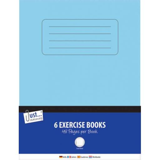 JS Exercise Books Feint Ruled 48 Page - Pack of 6