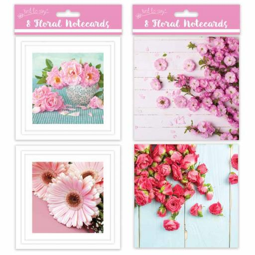 Tallon Square Notecards Floral - Pack of 8