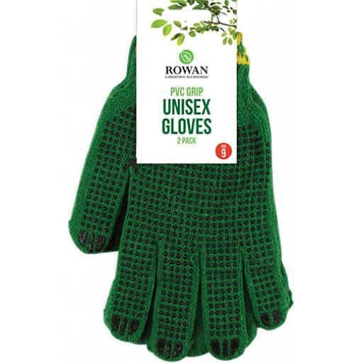 Rowan Unisex Gardening Gloves One Size - Pack of 2 Pairs