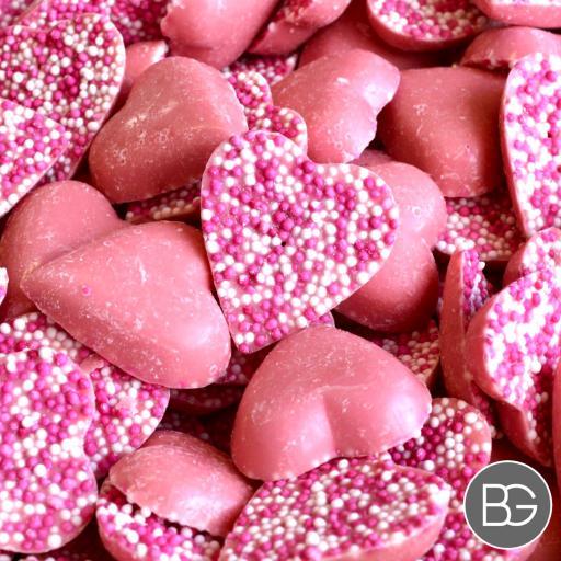 Chocolate Pink Hearts