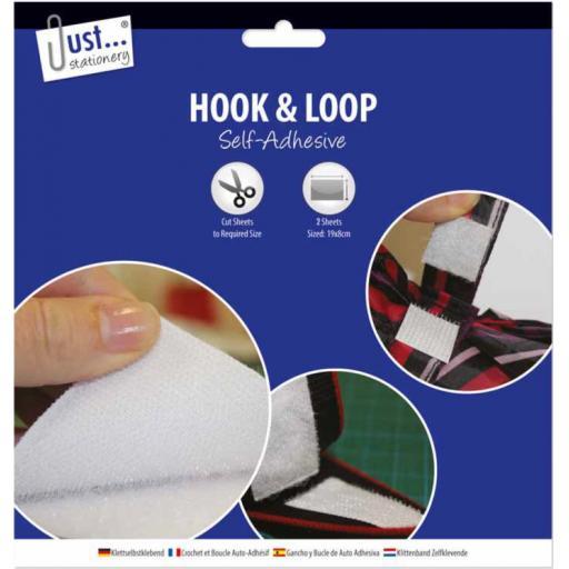 JS Self-Adhesive Hook & Loop Sheets - Pack of 2