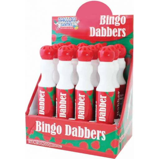 Tallon Large Bingo Dotters Red - Pack of 12