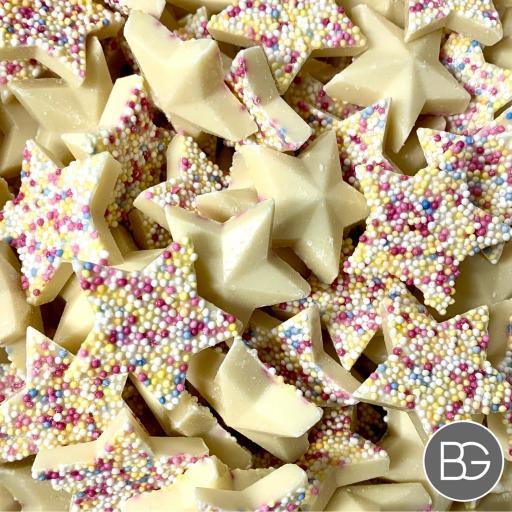 Chocolate White Stars
