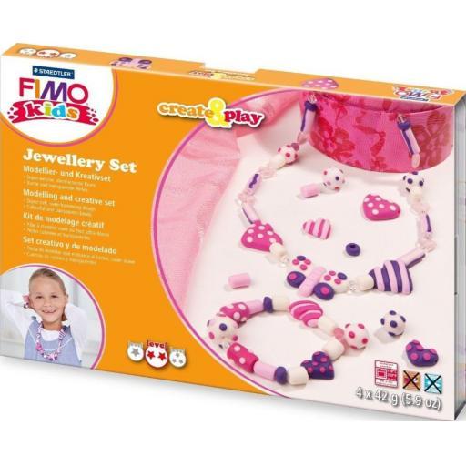 Staedtler Fimo Kids Create & Play Jewellery Set - Hearts