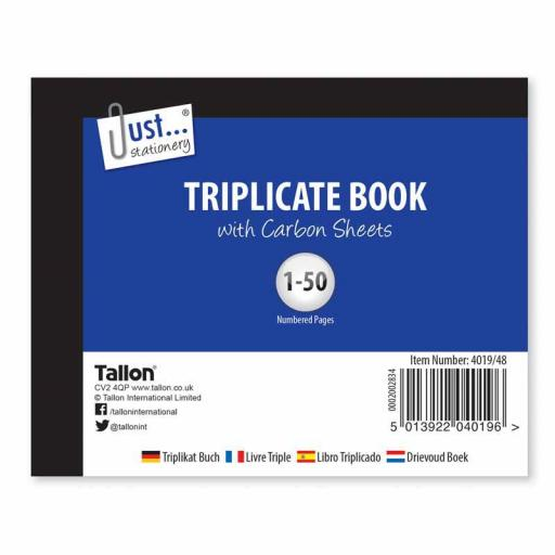 JS Triplicate Book Half Size with Carbon Sheets - 50 Sets