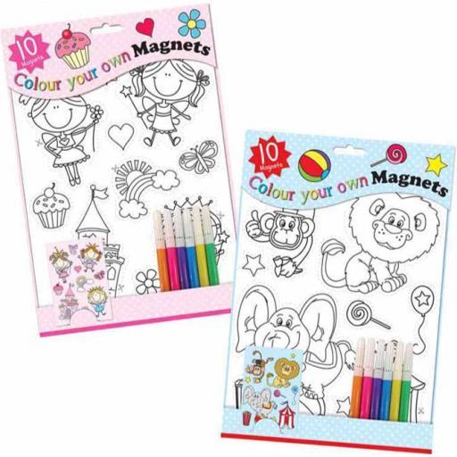 Tallon Colour Your Own Magnets Set