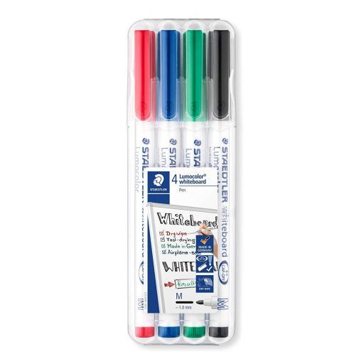 Staedtler Lumocolor Whiteboard Pens Medium Tip - Pack of 4