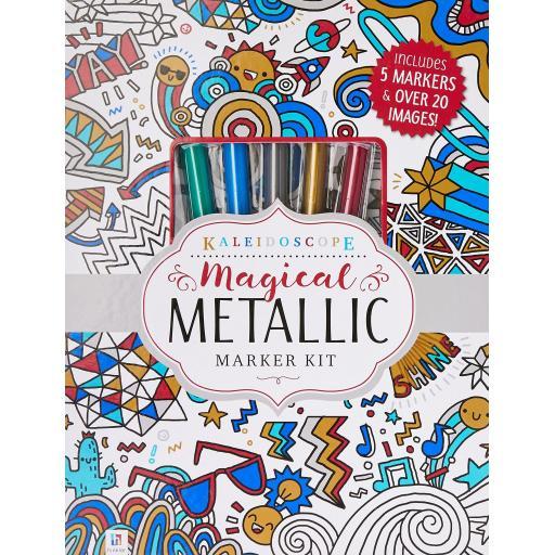 Kaleidoscope Magical Metallic Marker Colouring Kit