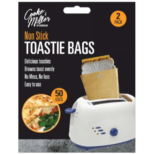 Cooke & Miller Non-Stick Toastie Bags - Pack of 2