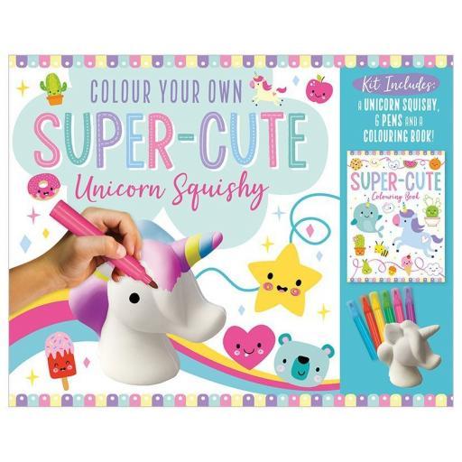 Colour your own Super-Cute Unicorn Squishy