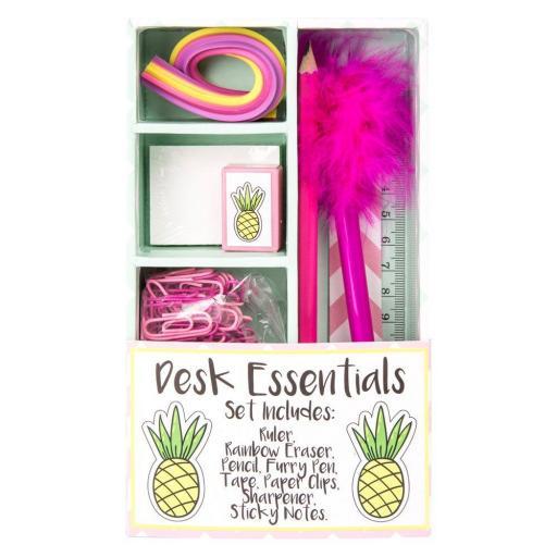 Tropical Desk Essentials Set Pineapple Flamingo Assorted Designs