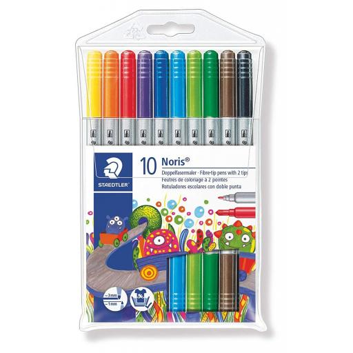 Staedtler Noris Club Double Ended Fibre Tips - Pack of 10