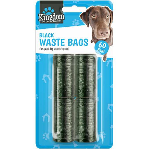 Kingdom Pet Care Black Waste Bags - Pack of 60