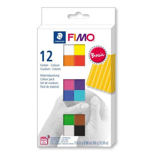 Staedtler Fimo Soft Basic Colours 12 x 25g Blocks