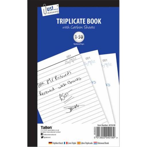 JS Triplicate Book Full Size with Carbon Sheets - 50 Sets