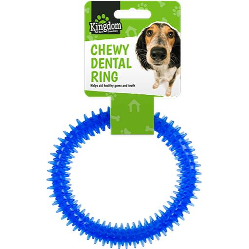 Kingdom Pet Care Chewy Dental Ring - Assorted Colours