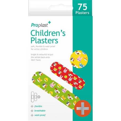 Proplast Childrens Plasters - Pack of 75