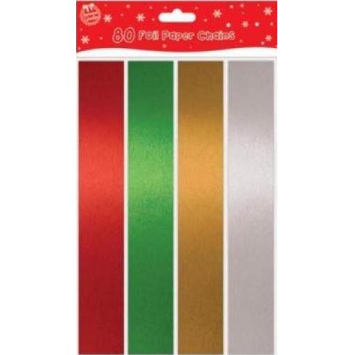 Tallon Foil Paper Chains, Assorted Colours - Pack of 80