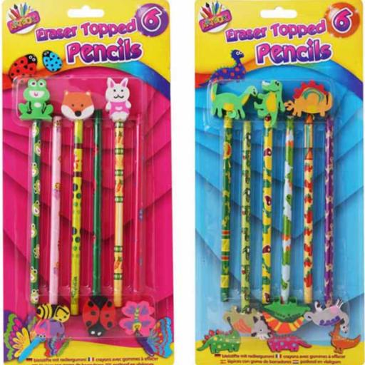 Artbox Eraser Topped Pencils - Pack of 6
