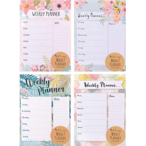 Tallon A4 Weekly Desk Planner - Assorted Designs