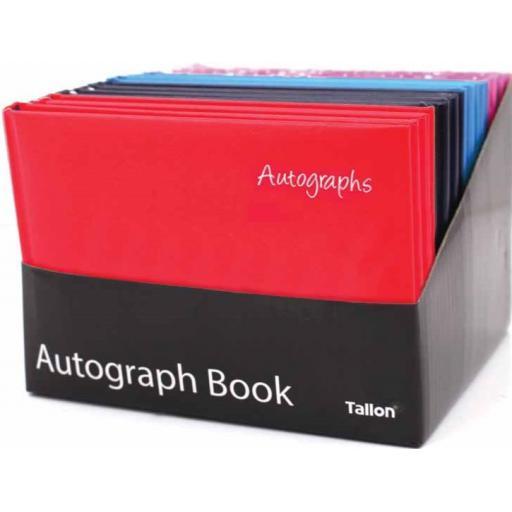 Tallon 100pg Autograph Book - Solid Colours