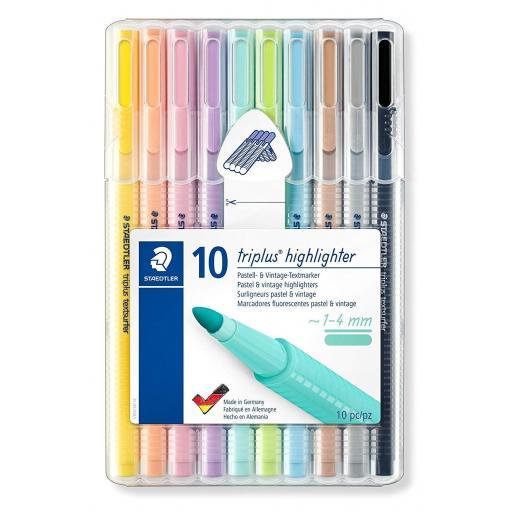 Staedtler Triplus Highlighter Pastel Colours - Pack of 10