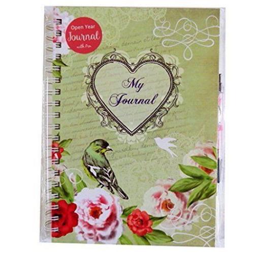 Tallon 240 Page Open Year Journal + Pen