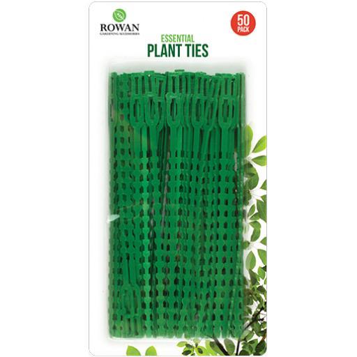 Rowan 17cm Green Plastic Plant Ties - Pack of 50