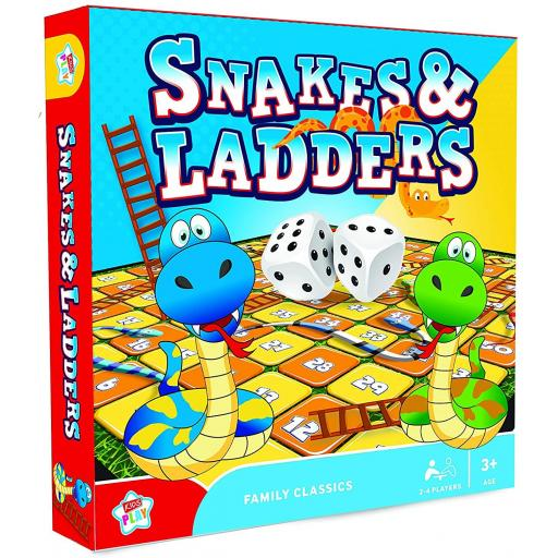IGD Kids Play Board Game - Snakes & Ladders