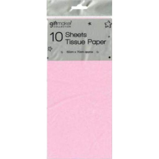 Giftmaker Collection Tissue Paper, Baby Pink - Pack of 10