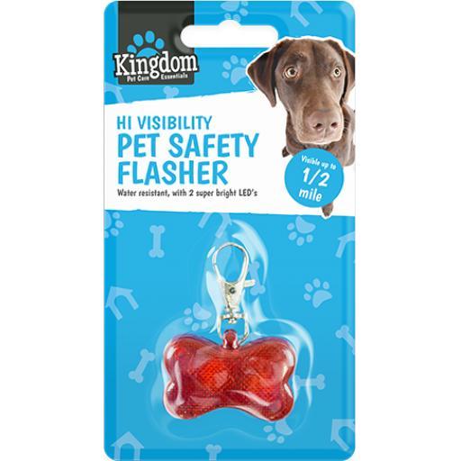 Kingdom Pet Care Hi Visibility LED Pet Safety Flasher
