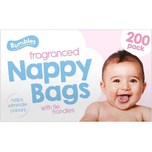 Rumbles Fragranced Nappy Bags - Pack of 200