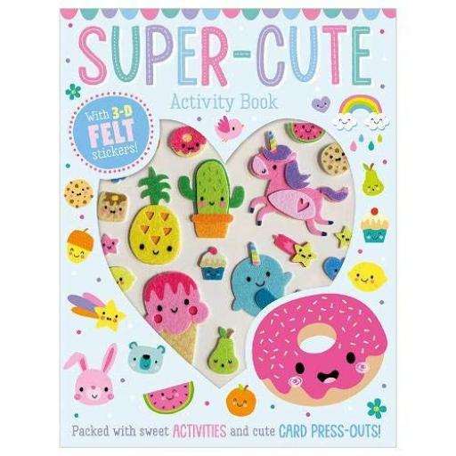 Super-Cute Activity Book with 3D Felt Stickers