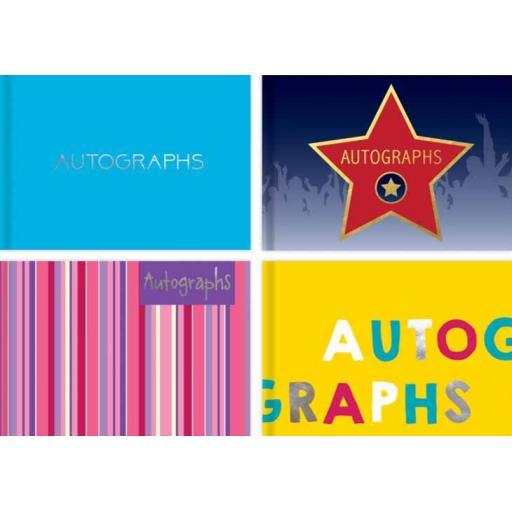Tallon 100pg Autograph Book - Assorted Designs