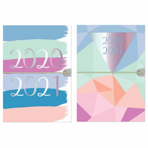 Tallon A5 Academic Diary Horizonal Elastic 20/21 - Random Design