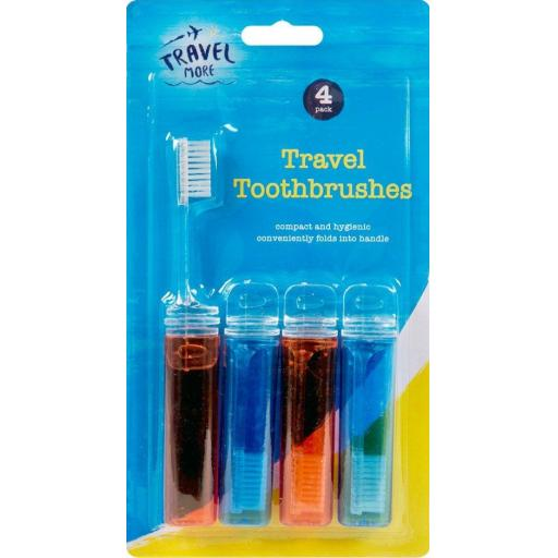 Travel Toothbrush Set - Pack of 4