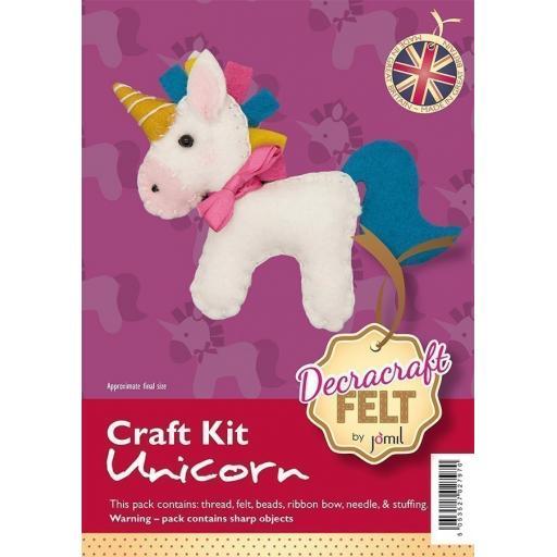Decracraft Felt Kraft Kit - Unicorn