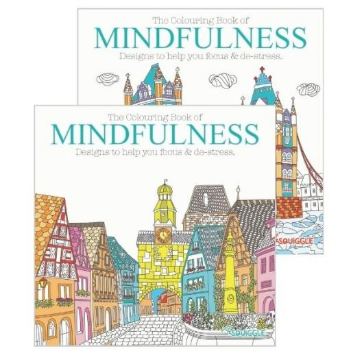 Squiggle Colouring Book of Mindfulness - Set of 2