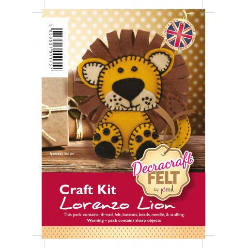 Decracraft Felt Kraft Kit - Lorenzo Lion