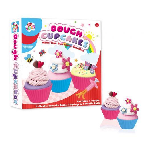 Kids Create Make Your Own Dough Cupcakes Set