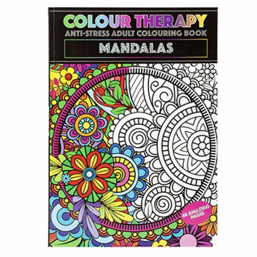 PMS Colour Therapy A4 Adult Colouring Book - Mandalas