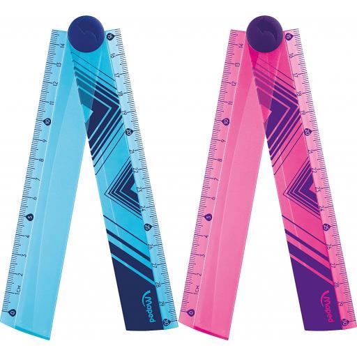Maped Cosmic 30cm Folding Ruler Pink/Blue