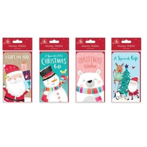 Festive Wonderland Single Christmas Money Wallet & Envelope - Random Design