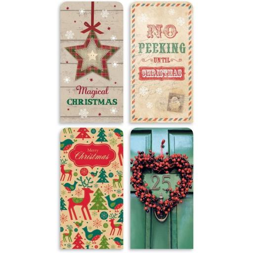 IGD Single Christmas Money Wallet & Envelope - Random Design