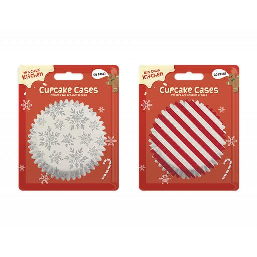 Gem Mrs Claus' Kitchen Cupcake Cakes - Pack of 60