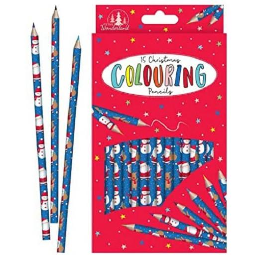 Tallon Christmas Colouring Pencils - Pack of 15