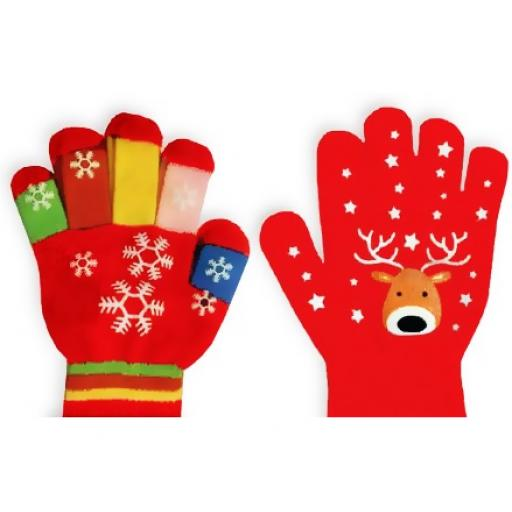 IGD Home Collection Children's Christmas Gloves, One Size - Assorted Designs
