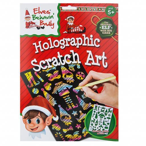 PMS Elves Behavin' Badly Holographic Scratch Art