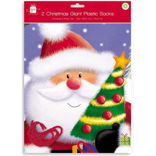 IGD Giant Christmas Sacks - Pack of 2