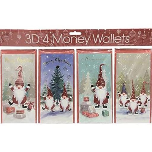 Tulip 3D Christmas Money Wallets, Santa Helpers - Pack of 4